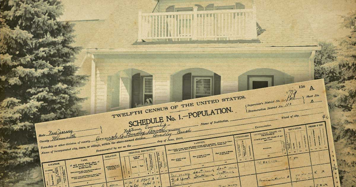 Bradley Beach Counts - The 1910 Census